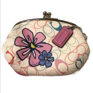 Coach Coin purse with clasp